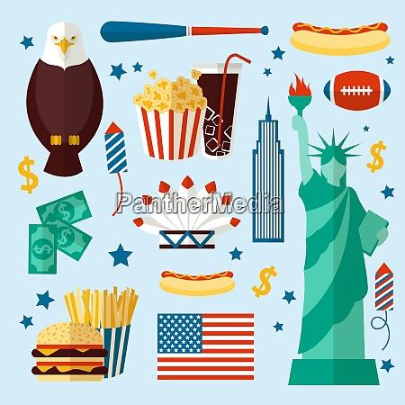 new york usa set of liberty