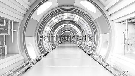 rendering of a futuristic tunnel