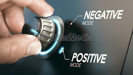 change to positive attitude psychology concept