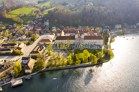 germany bavaria tegernsee drone view oftegernsee