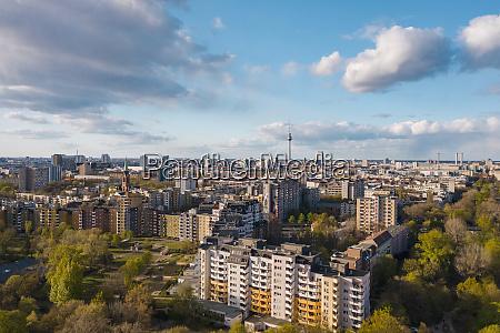 germany berlin aerial view of kreuzberg