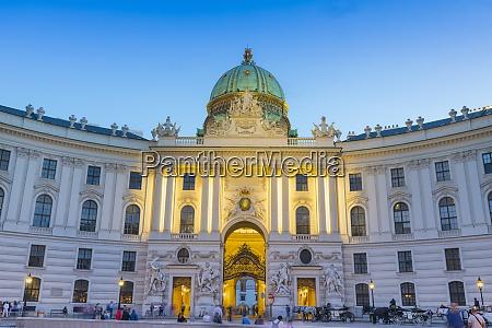 hofburg palace at dusk vienna austria