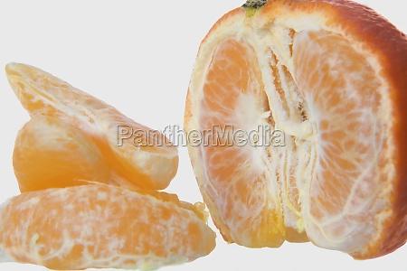 closeup of orange slices