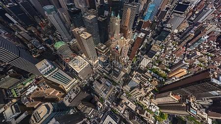 panorama of manhattan new york usa