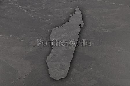 map of madagascar on dark slate