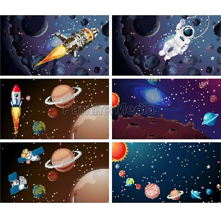 big space scene set