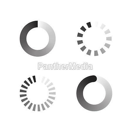 loading vector icon design illustration